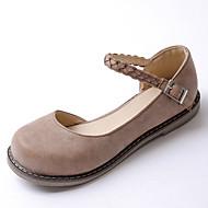 Dame-PU-Flat hælFlate sko-Kontor og arbeid Formell Fritid-Svart Gul Rød