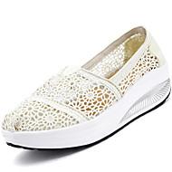 Damen-Sneaker-Outddor Lässig-Tüll-Keilabsatz-Leuchtende Sohlen