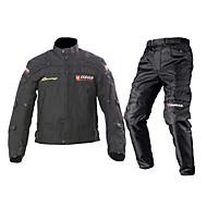 DUHAN ジャケットパンツセット 織物 オールシーズン 防風 オートバイの腎臓ベルト