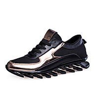 Flats Spring Fall Comfort Light Soles Leatherette Outdoor Casual Flat Heel Split Joint Walking
