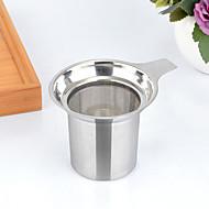 1pc 8,8 * 7,5 cm em aço inoxidável chá filtro brew cafeteira manual
