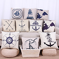 10 pcs Linen Pillow Cover Pillow Case,Textured Nautical Still Life Graphic PrintsCasual Modern/Contemporary Office/Business Outdoor Euro