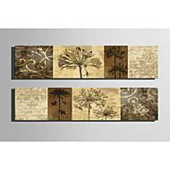 Impressão em tela esticada conjunto botânico de 2 1301-0204