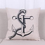 1 個 リネン 枕カバー,静物 グラフィック テクスチャード加工 航海 カジュアル オフィス 屋外 ユーロ トロピカル風 コンテンポラリー