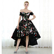 Cocktail Party Dress Ball Gown Off-the-shoulder Ankle-length Polyester with