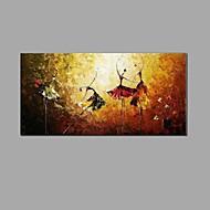 Ζωγραφισμένα στο χέρι Αφηρημένο Νεκρή Φύση Horizontal,Κλασσικά Ευρωπαϊκό Στυλ Μονόπτυχα Καραβόπανο Hang-ζωγραφισμένα ελαιογραφία For
