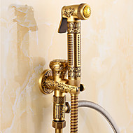 Antique Shower Only Handshower Included with  Ceramic Valve Single Handle One Hole for  Antique Brass , Bidet Faucet