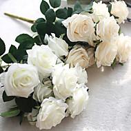 1 Ramo Seda Rosas Flores artificiais 45