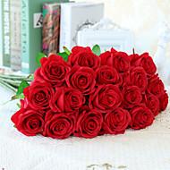 10 Κλαδί Μετάξι Τριαντάφυλλα Ψεύτικα λουλούδια 55