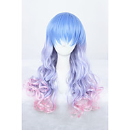 Medium Long Wave Color Mixed Girls Synthetic 24inch Anime Lolita Hair Wig CS-286A