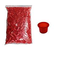 solong dövme 1000 adet dövme mürekkebi bardak plastik kapaklar büyük boy kırmızı renkli tc101-2