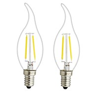 3W E14 E12 LED-hehkulamput CA35 2 COB 300 lm Lämmin valkoinen Himmennettävä AC 220-240 AC 110-130 V 2 kpl