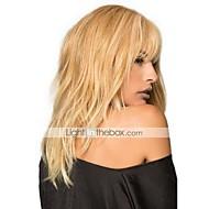 נשים שיער ללא שיער הבינוני אובורן בינוני Auburn / Bleach בלונדינית בז בלונדינית // Bleach בלונדינית ארוך גלי טבעי תספורת שכבות עם פוני