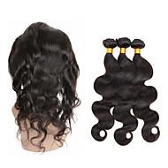 טווה שיער אדם שיער פרואני Body Wave שישה חודשים 4 חלקים שוזרת שיער