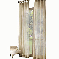 Two Panels Curtain Country Modern Neoclassical Mediterranean Designer , Solid Kids Room Linen Material Sheer Curtains ShadesHome