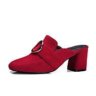 נשים-עקבים-עור-נעלי מועדון-שחור אדום ורוד-משרד ועבודה שמלה יומיומי-עקב עבה