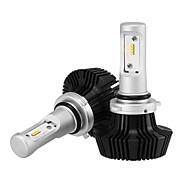 9006 25w / 2pcs LEDヘッドライトキット電球コブチップ5000lm led車のヘッドライト電球変換キット9v-32vハロゲン電球の代わりに