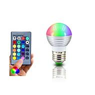 Rgb conduziu a lâmpada e27 3w levou o lampada leve do rgb conduziu o bulbo 85-265v smd5050 16 cores mudam com o controlador do