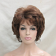 New Wavy Curly Medium Auburn Short Synthetic Hair Full Women's  Wig For Everyday