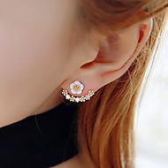 Sitne naušnice Kubični Zirconia Prijateljstvo Moda Smola Umjetno drago kamenje Pozlaćeni Flower Shape Tratinčica Zlato Pink Jewelry Za