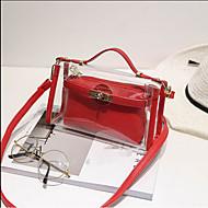 Mulher Bolsas Todas as Estações PVC Bolsa de Ombro com para Casual Preto Vermelho Rosa Cinzento