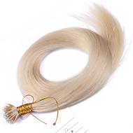 # 60 lichtste blonde nano tip hair extensions voor vrouwen 10a Peruaanse remy human hair keratine fusie hair extensions nano tip haar 100
