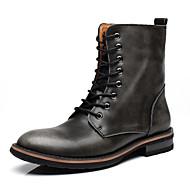 Oxford-kengät-Matala korko-Miehet-Nahka-Musta Ruskea Punainen-Toimisto Rento-Comfort