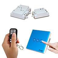 fyw tre gäng dubbel kontroll en gäng röra fjärrkontroll växla inget behov av att skära väggen ledningar med fyra knappar fjärrkontroll