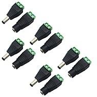 5 pacote de 5,5 x 2,1 milímetros barril de alimentação de 12V DC macho para fêmea tomada de energia ficha de conector de adaptador por