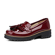 Dame-Lakklær-Lav hæl Tykk hæl Blokker hælen-Bullock sko-Oxfords-Kontor og arbeid Formell Fritid-Hvit Svart Rød