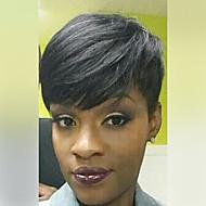 scurt pixie peruca din par natural negru peruci păr uman drepte pentru fără carcasă separată femei