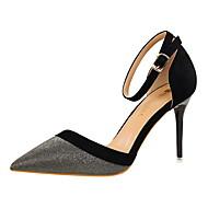 Podpatky-Kůže-Pohodlné-Dámské-Zlatá Černá Stříbrná Modrá Růžová-Šaty-Vysoký