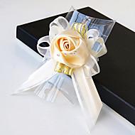 פרחי חתונה בצורה חופשיה ורדים זר פרחים לפרק כף יד חתונה חתונה/ אירוע סאטן