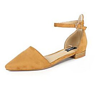 Верблюжий Телесный-Для женщин-Повседневный-Полиуретан-На плоской подошве-Удобная обувь-Сандалии