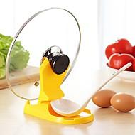 1 τεμ κουζίνα αποθήκευσης μαγείρεμα κάτοχο στάση rack καπάκι κουτάλι κατσαρόλα κατσαρόλα ράφι εργαλείο διακόσμηση τυχαίο χρώμα