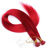 14 16 18 20 22 24 26 100 g litteä kärki kynsien kärki hiusten pidennykset luonnollinen väri Brasilian Remy hiukset keratiini fuusio