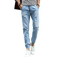 Herren Einfach Mittlere Hüfthöhe Unelastisch Jeans Haremshosen Hose,Ripped einfarbig