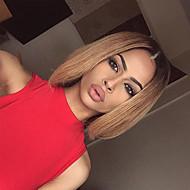 Verkaufspreis erschwinglich mittelbraun ombre blonde Jungfrau seidig glatte Haar Elf kurzer Bob glueless vollen