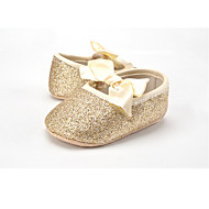 Kids' Flats Spring Fall First Walkers Fabric Glitter Wedding Outdoor Party & Evening Dress Casual Flat Heel Bowknot Gore