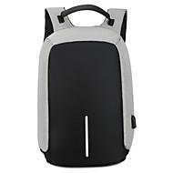 Unisex Backpack Nylon All Seasons Casual Outdoor Camping & Hiking Zipper Black Gray Purple