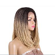 Vrouw Middel Donkerbruin Zwart / Bourgondië Strawberry Blonde / Bleach Blonde Zwart Haar Synthetisch haar Kanten VoorkantNatuurlijke