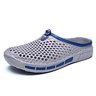 Homme Sandales trou Chaussures Polyuréthane Eté Extérieure Chaussures d'Eau Talon Plat Noir Gris Bleu Moins de 2,5 cm