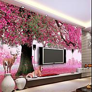 Cvijetan Copaci/Frunze Pozadina Za kuću Zemlja Zidnih obloga , Canvas Materijal Ljepila potrebna tapeta , Soba dekoracija ili zaštita za