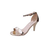 נשים-סנדלים-PU-חדשני נעלי מועדון-זהב לבן שחור כסף-חתונה שטח שמלה יומיומי מסיבה וערב-עקב סטילטו