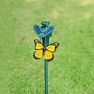 Jardim fornecimentos solar powered dançando voando borboleta para jardim decoração cor aleatória