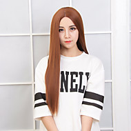 Popular Brown Color Straight Synthetic Wig For Daily Women