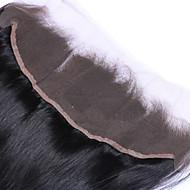 22inch braizlian fechamento laço frontal reta melhores virgens brasileiras fechamentos de cabelo humano livre / médio fechamento / 3part