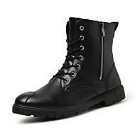 Bootsit-Tasapohja-Miehet-PU--Rento-Comfort