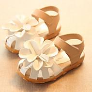 Para Meninas Bebê Sandálias Chanel Courino Verão Casual Chanel Rasteiro Branco Fúcsia Rosa claro 2,5 a 4,5 cm