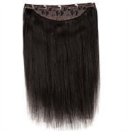 16inch 원피스 클립 100 % 레미 인간의 머리카락 확장 손수 만든 120g